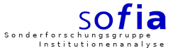 sofia - Sonderforschungsgruppe Institutionenanalyse logo
